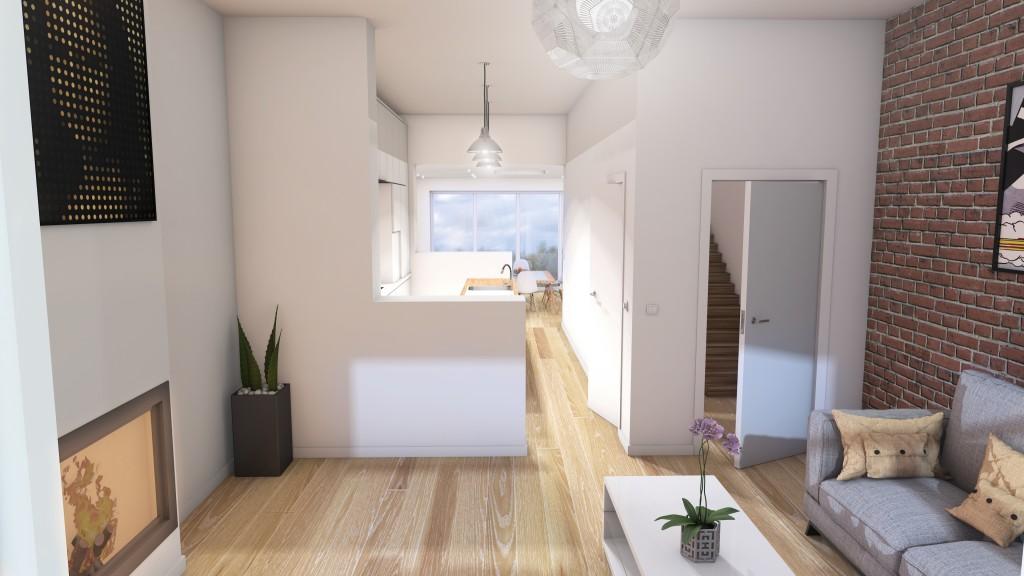 Esquisse 3D pour l\u0027aménagement l\u0027espace de vie d\u0027une maison - Amenagement De La Maison