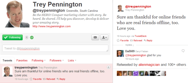 Trey Pennington Last Tweet on 04 September 2011