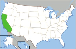 map of the state of california in America