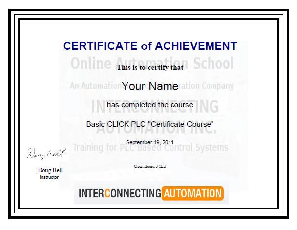 Basic CLICK PLC Certificate Course