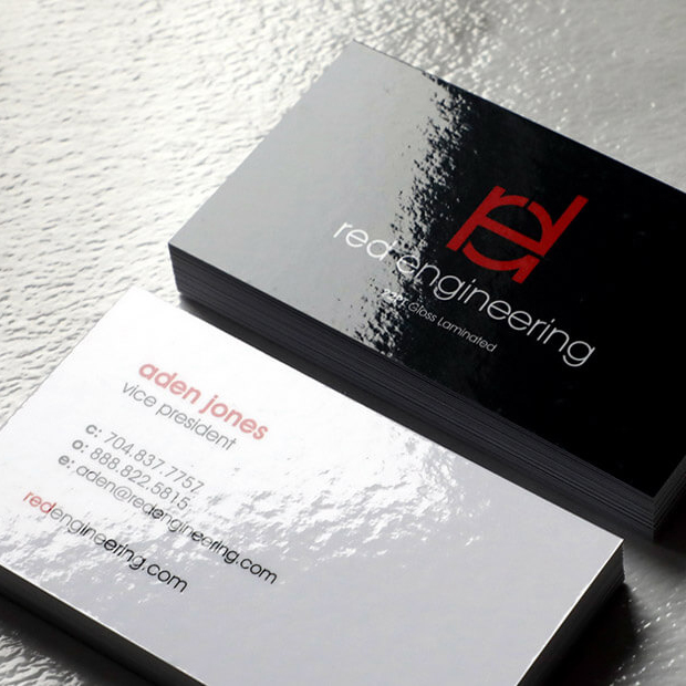 Glossy Business Cards - 22PT Gloss Laminated Business Cards Primoprint