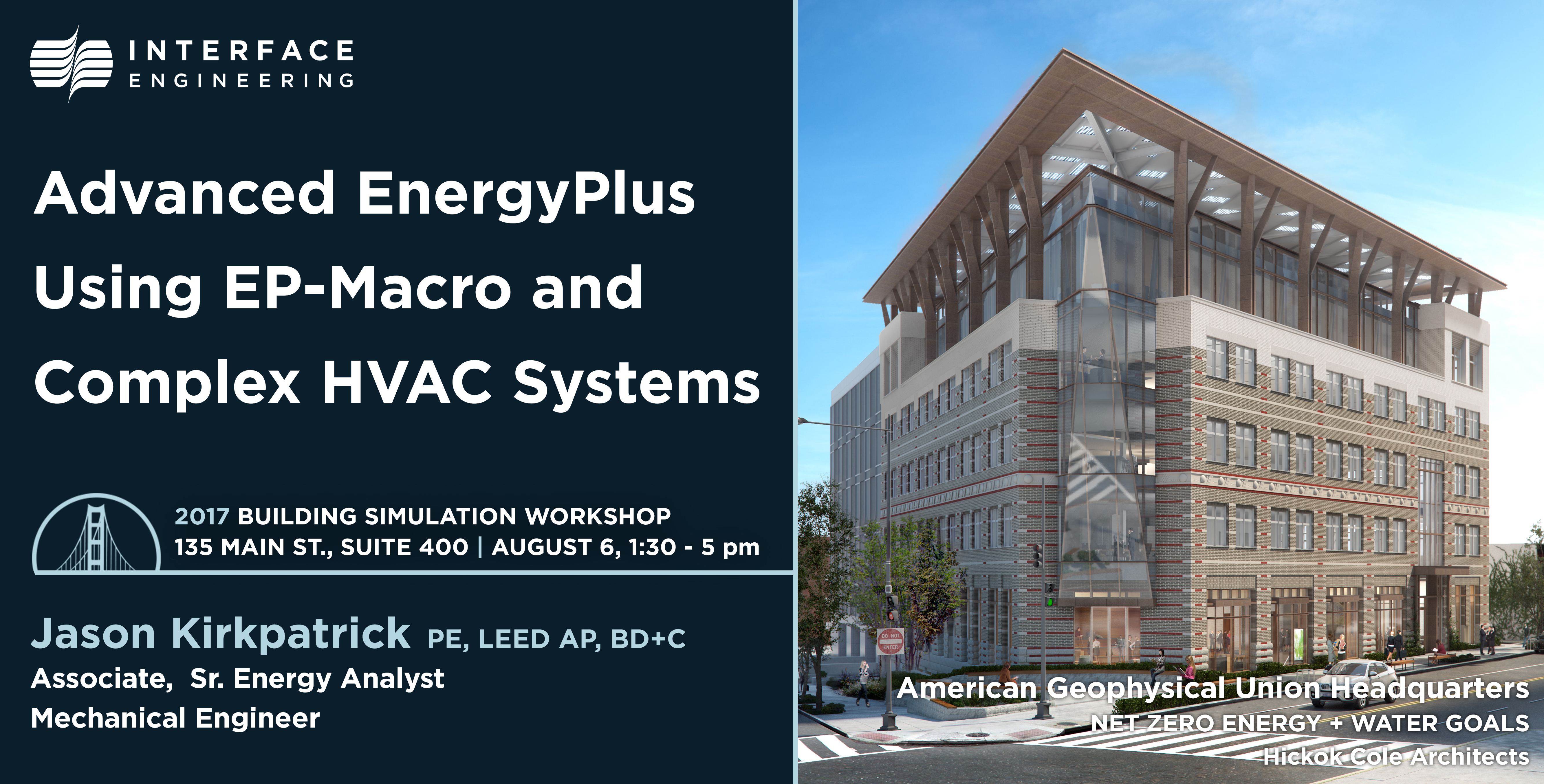 Simulation Facade Interface Workshop At Building Simulation 2017 Interface Engineering