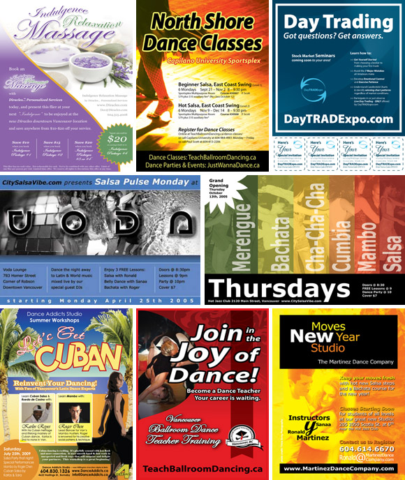 Flyers and Posters Interface Media Group Inc - flyers design samples