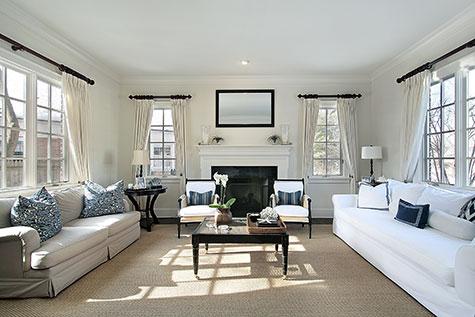 Interieur decoratie woonkamer kleuren voorbeelden modellen