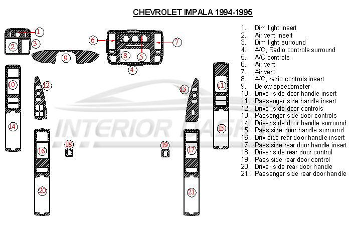 2016 chevrolet chevy impala interior