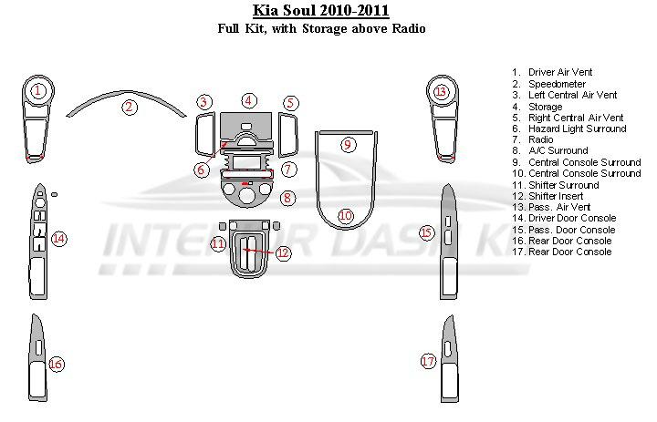 kia soul radio wiring harness