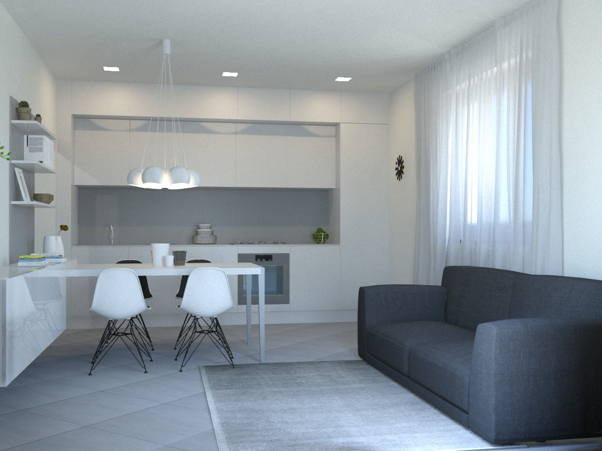 Arredare Le Pareti Della Cucina : Come arredare una parete della cucina cucina e soggiorno insieme