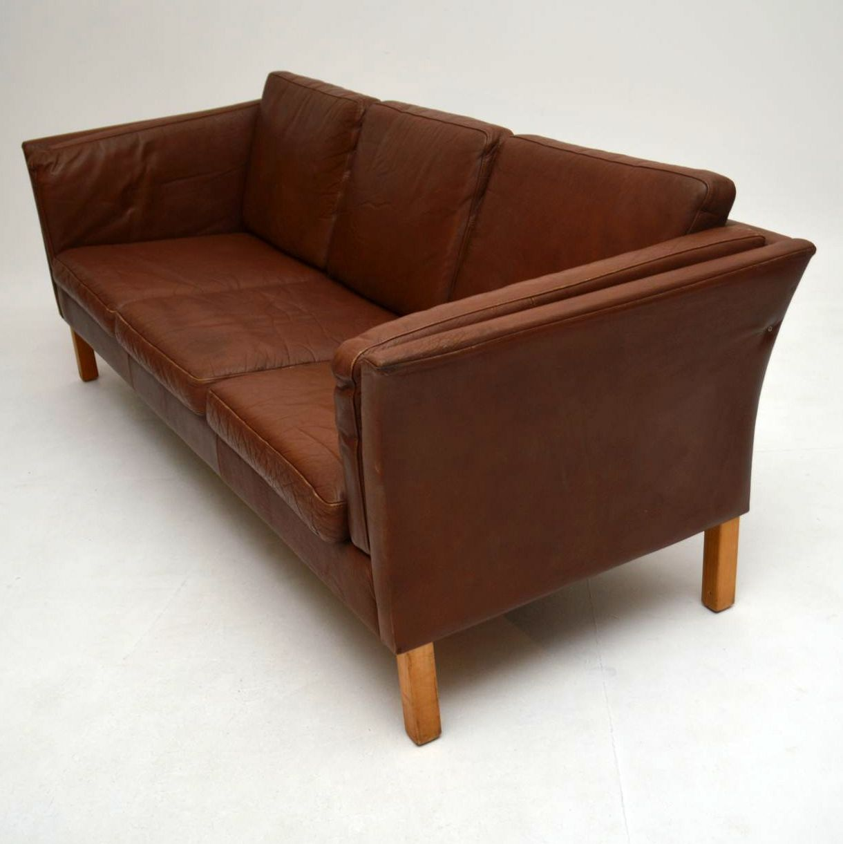 Scandinavian Furniture Sale Danish Retro Leather Sofa Vintage 1960s Interior