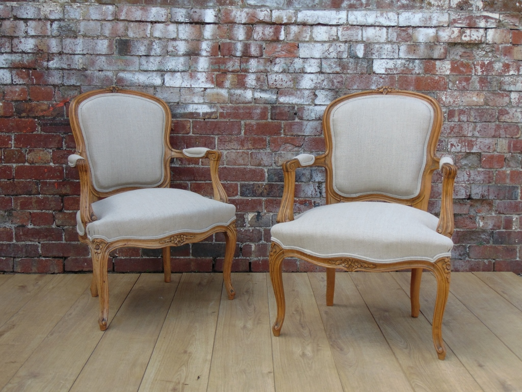 Pair Re Upholstered Fauteuil Salon Armchairs Interior Boutiques Antiques For Sale And Mid Century Modern Furniture French Furniture Antique Lighting Retro Furniture And Danish Furniture