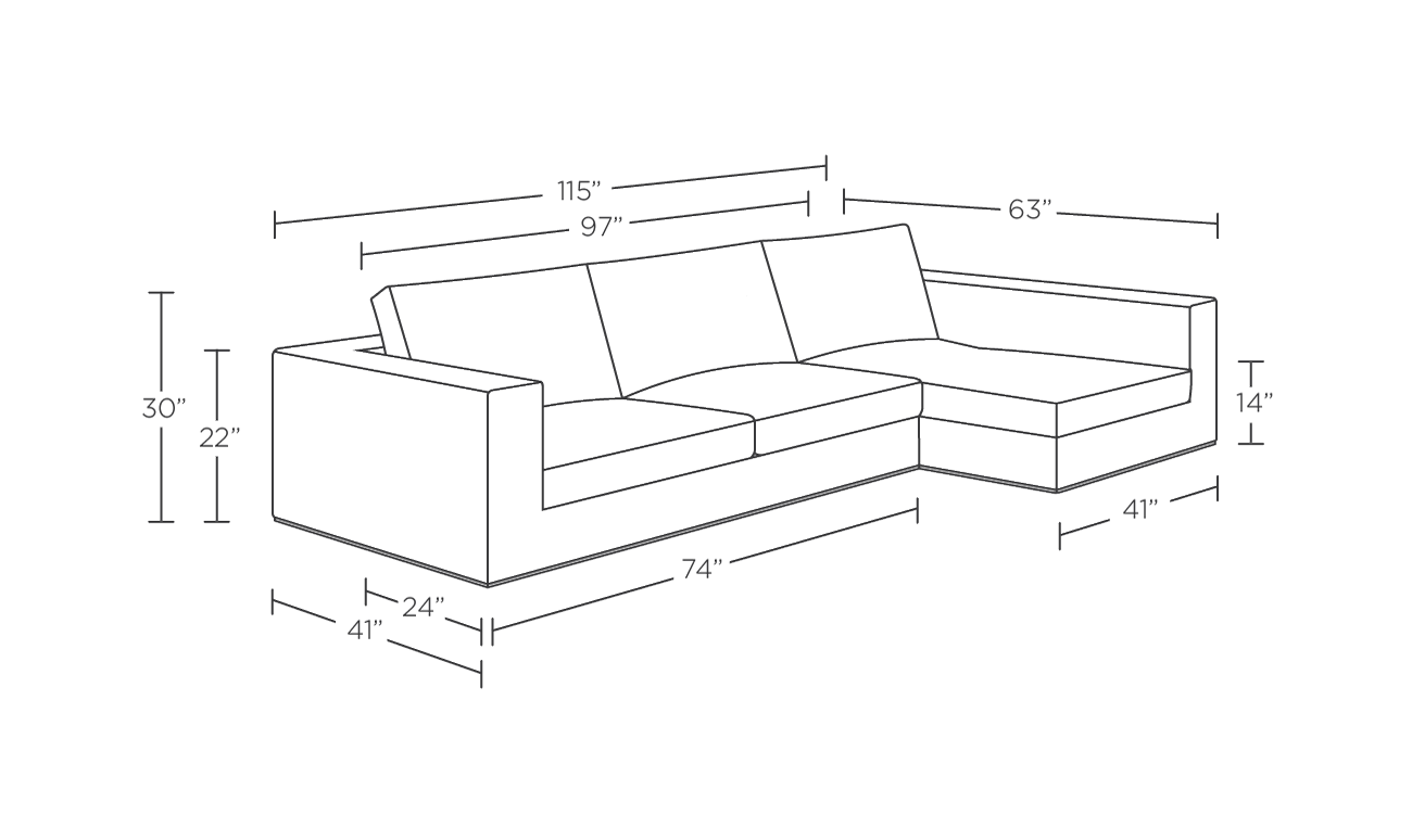 Sala Set Standard Size Sectional Sofa Measurements Trend Sectional Sofa