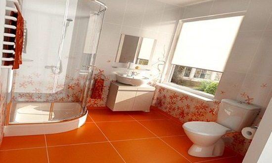 Orange bathroom decorating ideas interior design for Bathroom decor orlando