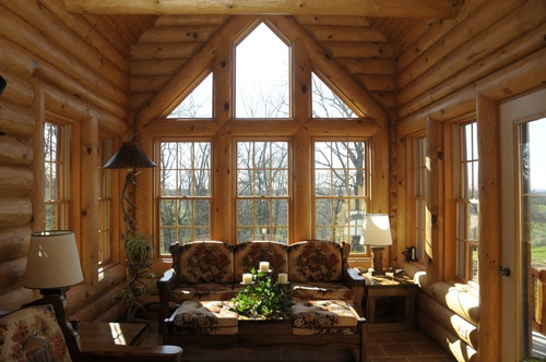 Best sunroom design colors ideas interior design for Log cabin sunroom additions