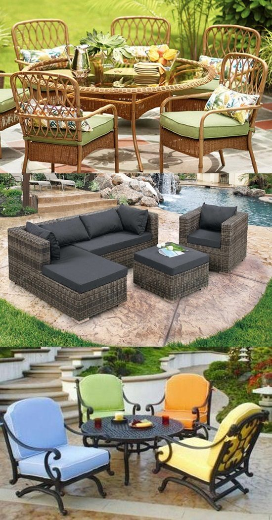 Patio furniture types and materials interior design for Patio materials