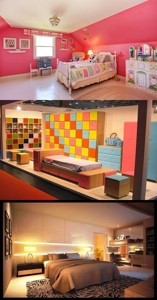 Creative bright colored bedrooms interior design for Bright coloured bedroom ideas
