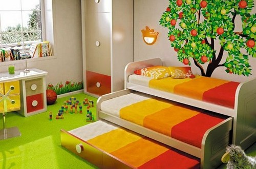 Creative space saving ideas for small kids bedrooms interior design - Children bedroom ideas small spaces model ...