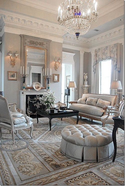 Chic and Luxurious Large French Style Living Room Ideas - Interior - french style living room