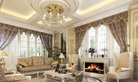 Chic and Luxurious Large French Style Living Room Ideas ...
