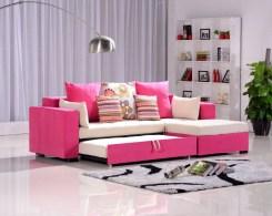 Practical and elegant living room sofa-bed