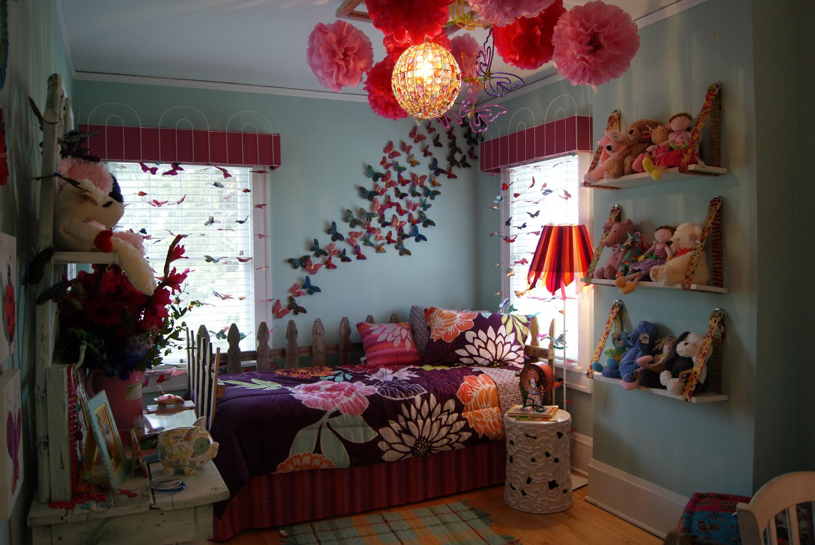 Girl Themed Bedrooms Butterfly Themed Bedroom In Budget Interior Designing