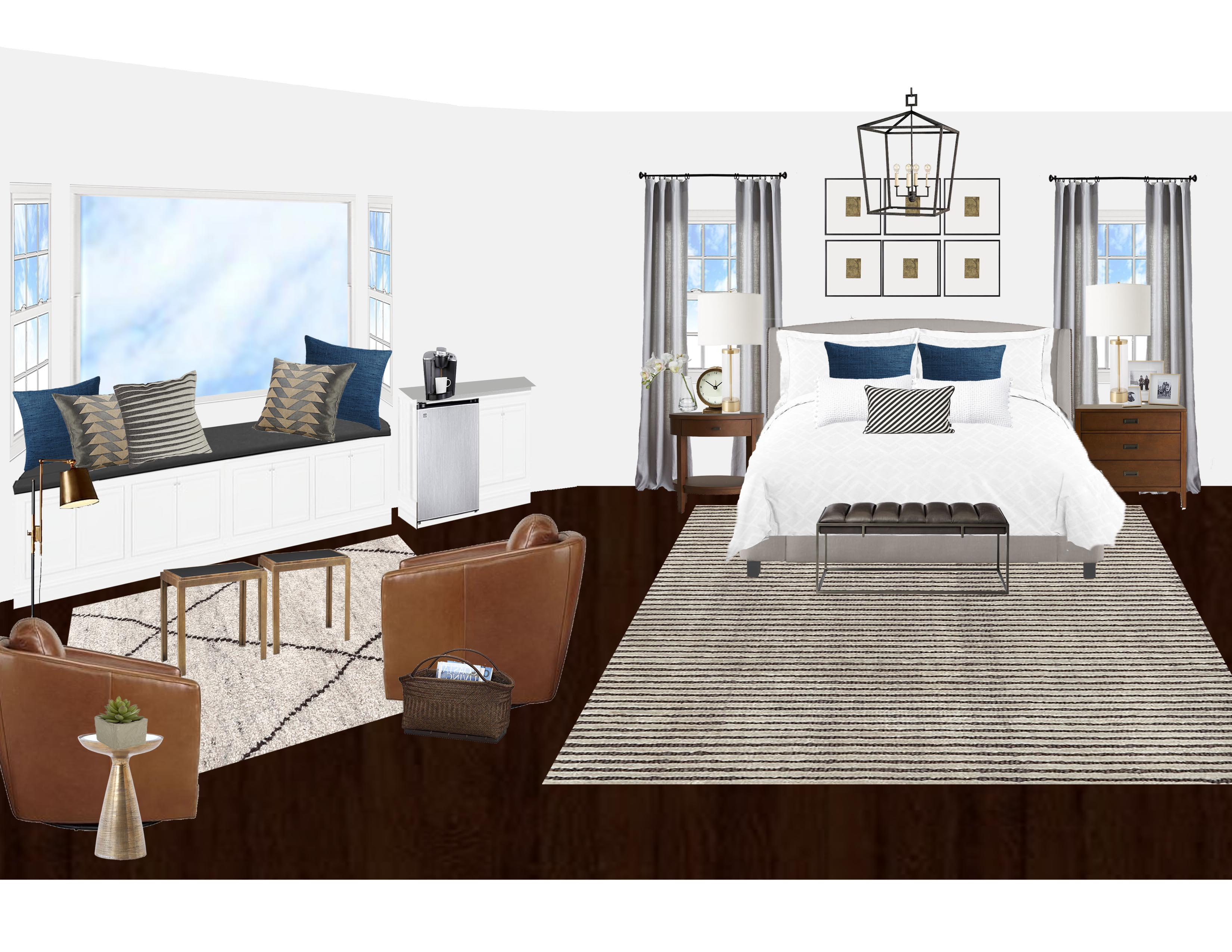 Create A Bedroom Online Clean Transitional Master Bedroom Virtual Interior