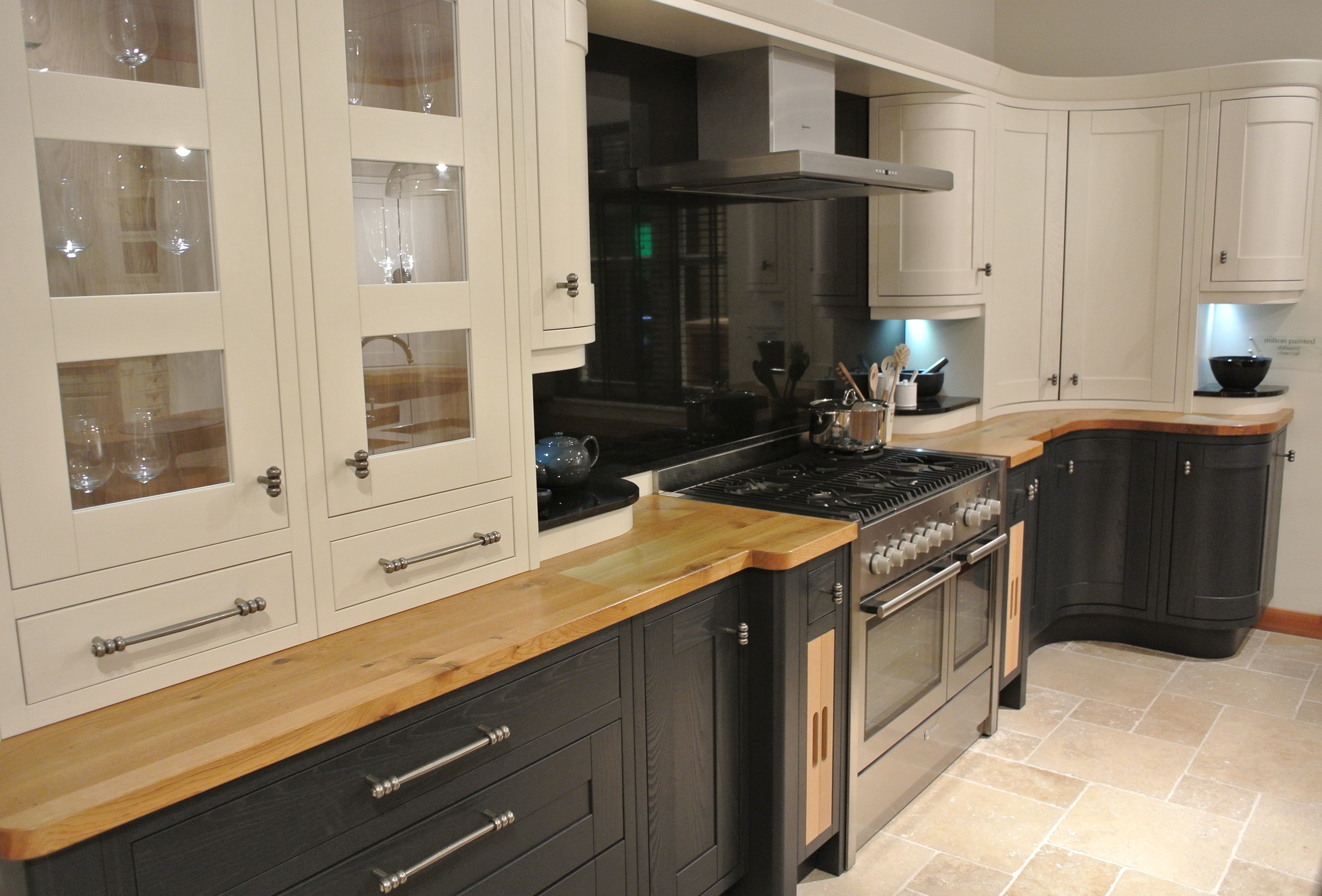 A Frame Kitchen Designs Milton Charcoal And Oak In Frame Kitchen Interior