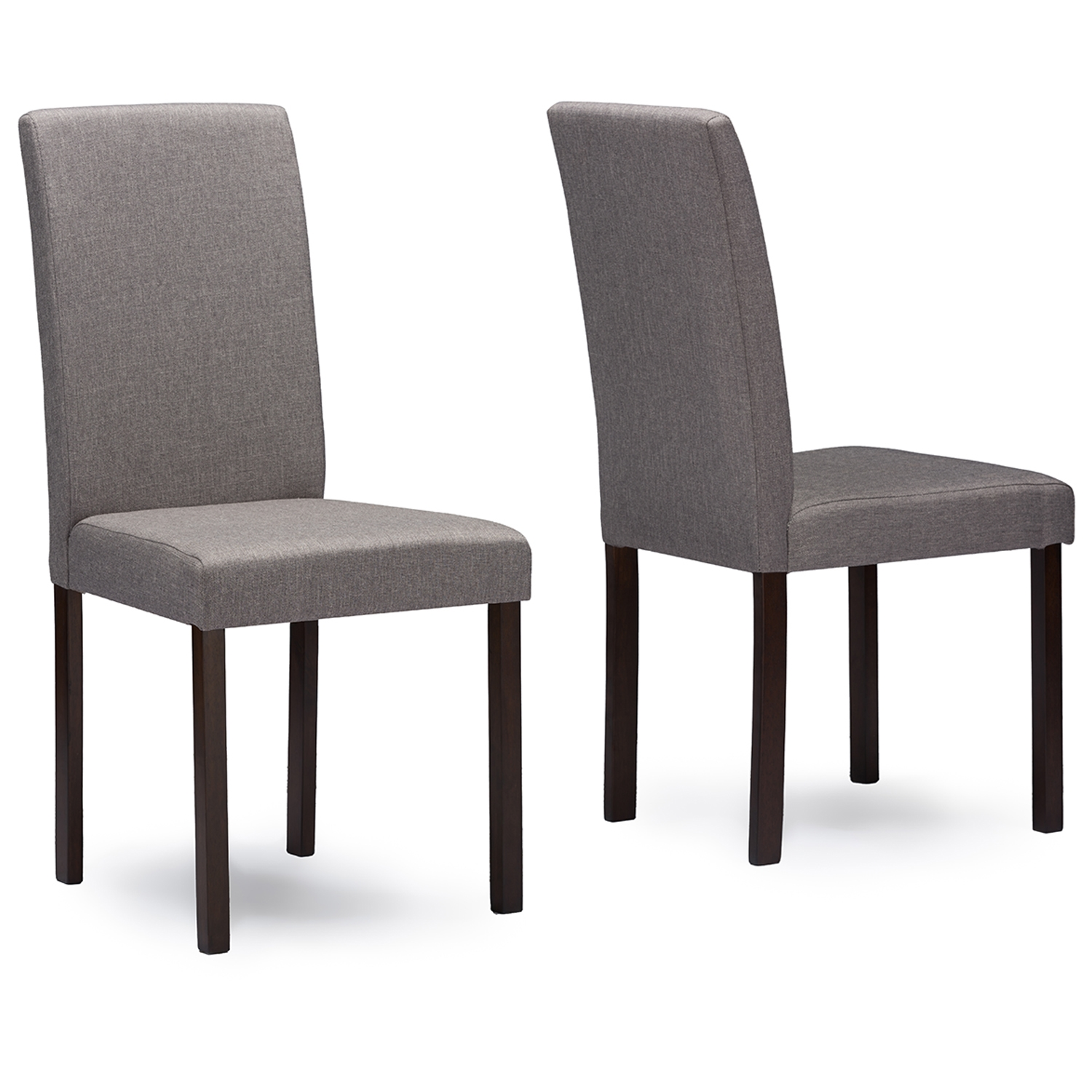 Dining Room Chair Fabric Baxton Studio Andrew Contemporary Espresso Wood Grey Fabric Dining Chair