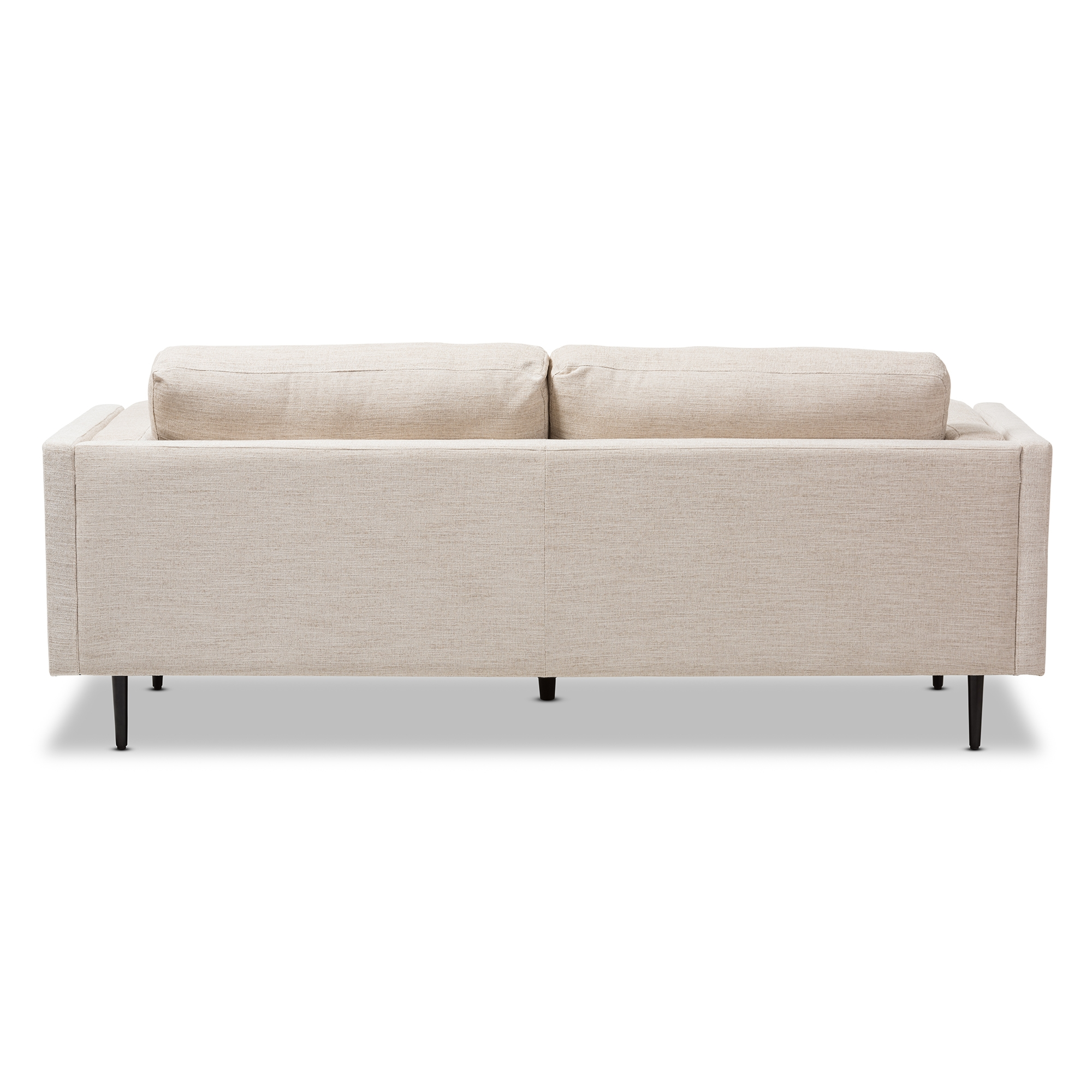 Retro Sofa Wood Baxton Studio Brittany Retro Mid Century Modern Light Beige Fabric Upholstered 3 Seater Sofa