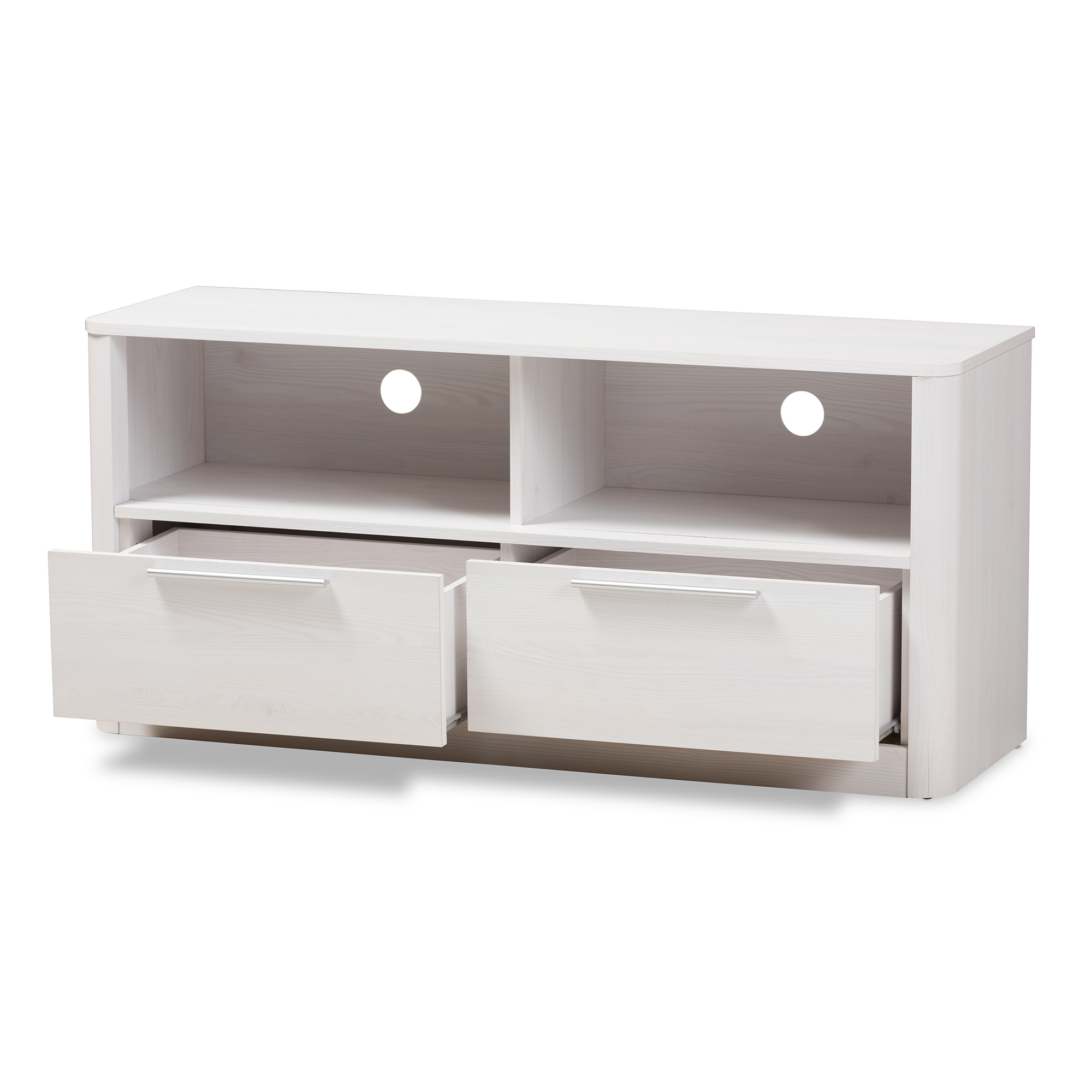 Tv Sideboard Modern Baxton Studio Carlingford Modern And Contemporary Whitewashed Wood 2 Drawer Tv Stand