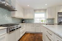 Kitchen white cabinets dark countertops - give your ...