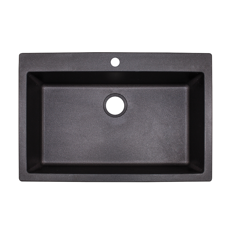 black granite sink lowes black kitchen sink lowes Black granite sinks are produced using specially treated strong and solid materials The cost of materials has brought down considerably and thus black