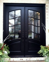 French country double entry doors give charming ...