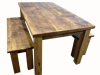 rustic dining tables with benches  Roselawnlutheran