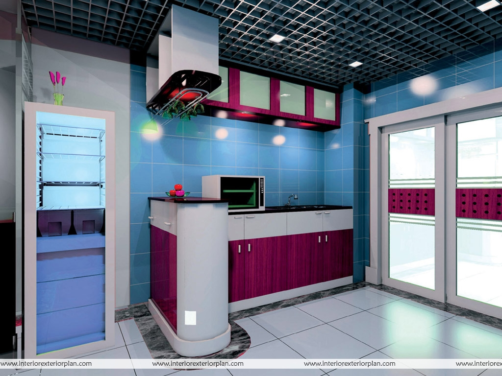 Blue Interior Design Interior Exterior Plan Blue Kitchen Interior Design A
