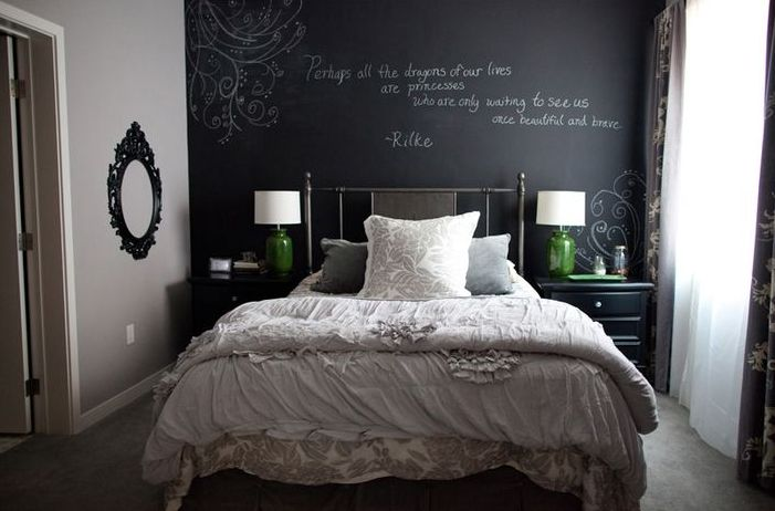 Modern Bedroom Ideas Teal 27 Awesome Chalkboard Bedroom Ideas You'll Love | Interior God