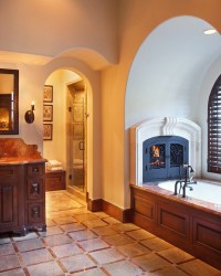 31 Fabulous Bathrooms With Fireplaces