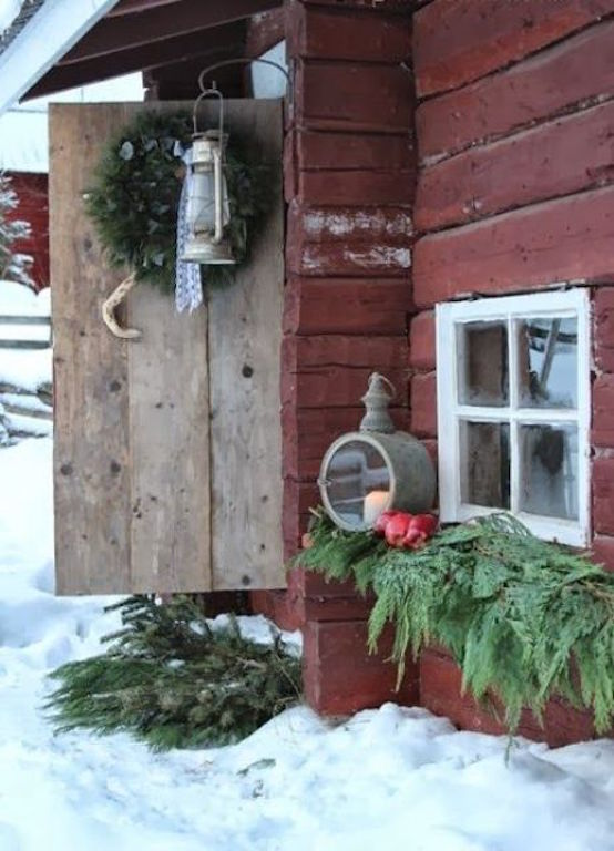 31 Cozy Rustic Outdoor Christmas Decor Ideas Interior God