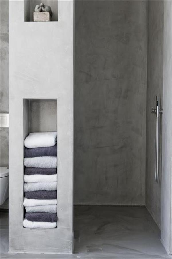 Beton Bad Small Space Solution: Wall Niche Shelves | Interiorholic.com