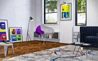 Add Some Vibrant Color and Funkiness to Your Living Room