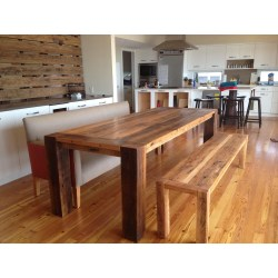 Small Crop Of Reclaimed Wood Dining Table