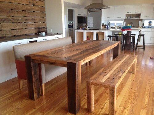 Medium Of Reclaimed Wood Dining Table
