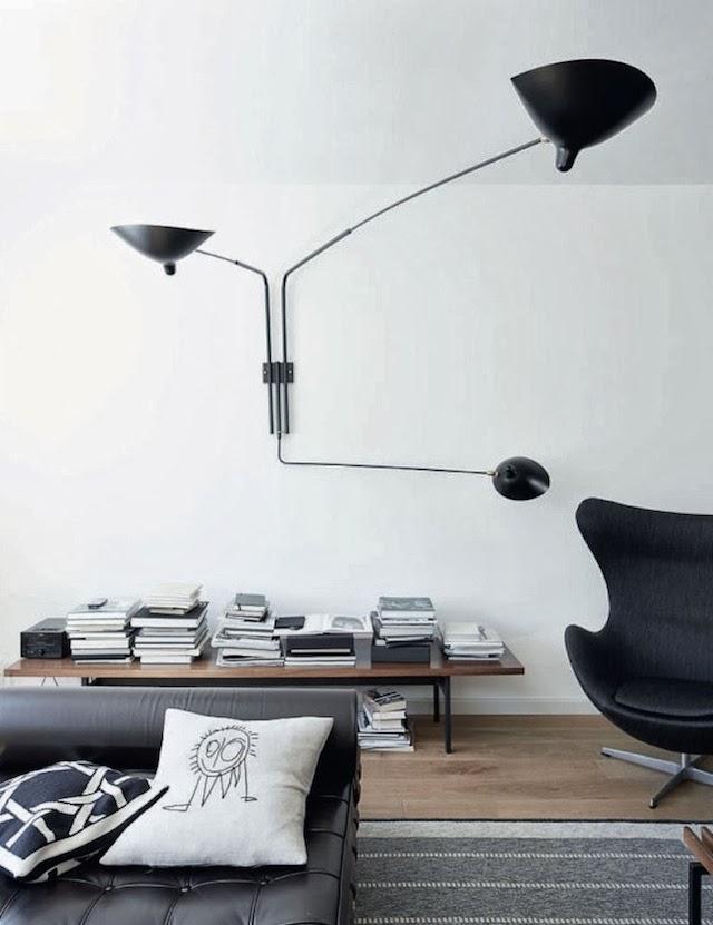 Preciosa lámpara de Serge Mouille