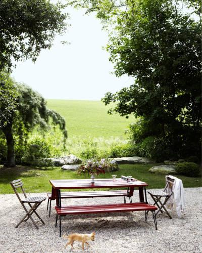 En el estupendo jardín se ha habilitado una preciosa zona de picnic.