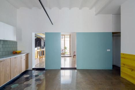 Zona de paso de cocina a dormitorio.