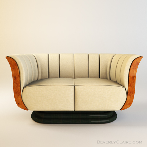 Art Deco Style Sofas Art Deco Tulip Loveseat & Club Chair - Beverly Claire Interiors | Beverly Claire Interiors