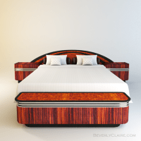 Art Deco Bed with Nightstands & Storage Chest