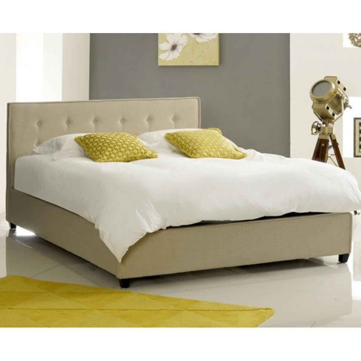 Fabric Bed Frames Annabelle Modern Stone Fabric Button Bed