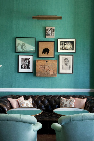 Sofa Design Royal Babington House Teal - Interiors By Color