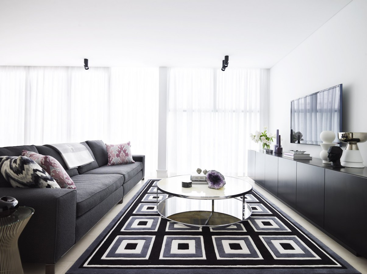 Black White And Grey Living Room Design Black Grey Adn White Living Room Interiors By Color