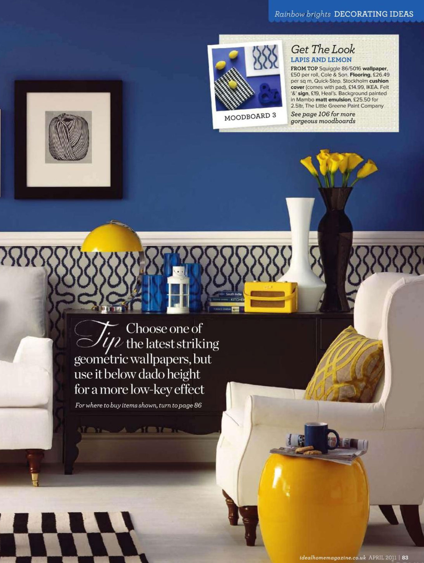 Blue And Yellow Living Room Decor A Lemon Twist Interiors By Color