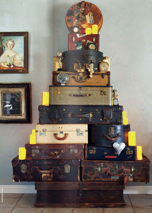Paint Kitchen Cabinets White Or Black Christmas Tree Out Of Vintage Suitcases - Interiors By Color